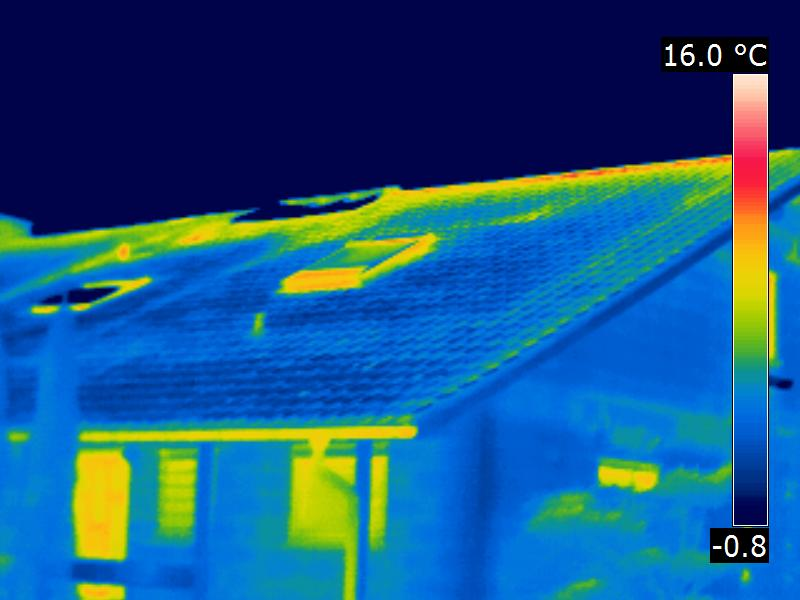 Thermografie Dach